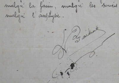 signature du manuscrit